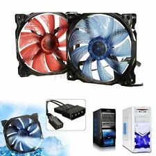 3-Pin/4-Pin 120mm PWM PC CPU Ventola Case Raffreddamento Cooling Fan LED Nuovo