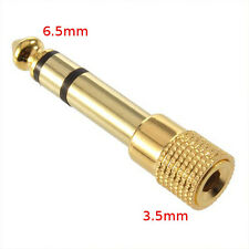 6.5mm Male Jack to 3.5 Female Adapter converter for Microphone Headphone Audio