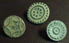 3 SMALL ANTIQUE BUTTON CENTURY XVIII OLD BOUTON BUTTON BOTON SEE MY SHOP CCB36