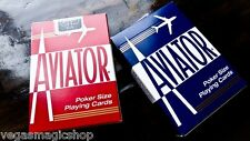 Aviator Standard Red & Blue Deck Set Playing Cards Poker Size USPCC New Sealed