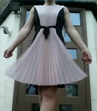 Pink & black occasion dress with pleats, JS Collections, EU 38/UK 12, RRP £220