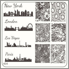 MoYou Nail Fashion Square Image Plate 404 Vintage Style Art Stamping Template