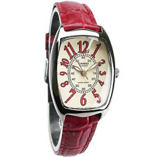 Casio LTP-1208E-9B2 Red Leather Dress Watch Analog LTP1208E-9B2 COD Paypal