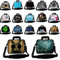 "15"" 15.6"" Neoprene Laptop Carrying Bag w. Extra Side Pocket Sleeve Case Sleeve"