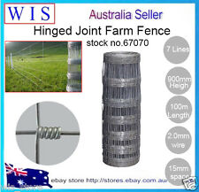 Hot-dipped Gal. Hinge Joint Dingo Fence,Dog Mesh,90cm x100m(L),15cm,37.5Kg-67070