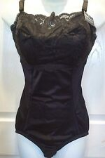 Instant Shaping Black Lace Front Body Shaper All in One Girdle Shapewear sz 36DD