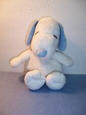 TY PLUFFIES BABY SNOOPY MUSICAL Peanuts Gang Song WHITE/BLUE PLUSH - 2011 -  VGC