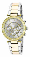 Invicta 20470 Angel Womens Chronograph Silver Two Tone  Braclet Watch