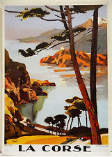 CPM REPRODUCTION AFFICHE ANCIENNE / LA CORSE / L. PERI / 1932