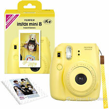 Limited Model Fuji Instax Mini 8N Instant Camera Fujifilm Instax Mini 8 Yellow