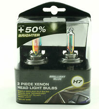 BRILLIANT BLUE XENON H7 12V 55W HEADLIGHT BULBS TWIN PACK