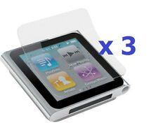 3 x New Anti-Glare Glare Screen Protector for iPod Nano 6 in Retail Package
