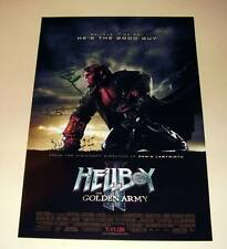 "HELLBOY II : GOLDEN ARMY CASTX2 PP SIGNED POSTER 12""X8"""