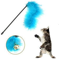 Cat Pet Toy Activity Teaser Turkey Feather Play Chaser Wand Toy Random Color