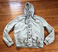 Mens H&M Divided Gray Zip Up and Button Up Heavy Hoodie - Size XL - Two Pockets