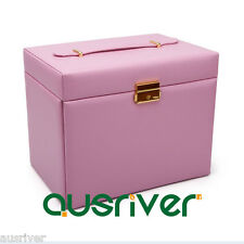 Princess Style Pink Large Jewelry Box 5 Layers Necklace/Ring/Bracelet Organiser