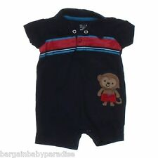 NWT Carter's Child of Mine Monkey Collared Romper Creeper Baby Infant Boys 3-6 M