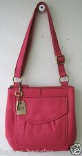 Fossil Modern Cargo Organizer Fuchsia leather crossbody bag SHB4520690 NWT
