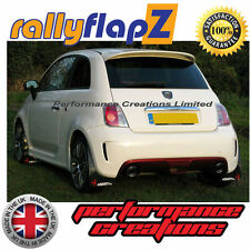rallyflapZ FIAT 500 ABARTH (2008 on) Black 3mm PVC Mud Flaps Logo White & Red