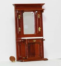 Dollhouse Miniature 1:12 Scale Ornate Cherry Hallway Mirrored Table