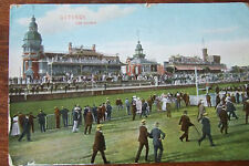 OSTENDE Les  Courses HORSE RACING c1922 Old Postcard by Dr Trenkler bruxelles