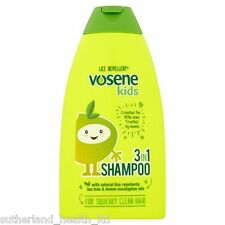 x6 Vosene Kids 3 in 1 Shampoo, Head Lice Repellent 250ml (Pack of 6)