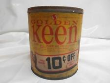 Old Vtg GOLDEN KEEN All-Purpose SHORTENING TIN CAN Advertising Safeway Stores
