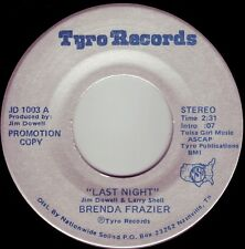 BRENDA FRAZIER Last Night ((**NEW UNPLAYED PROMO 45 from 1980**))