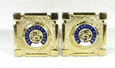 Gold Tone Cufflinks with Reciprocity Club Emblem
