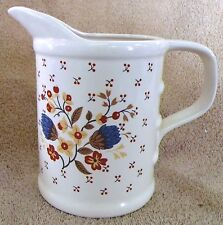 """VINTAGE GLASSWARE--WHITE CREAM PITCHER--6 1/2"""" TALL--VERY NICE--GREAT PATINA!"""