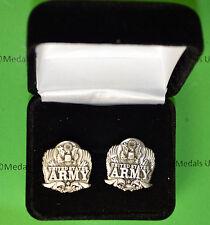 Army Eagle Cuff Links in Presentation Gift Box USA cufflinks
