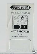 1920s Junoform BUST FORMS Rubber Breast Molds & Wee Wee Nursing Shields Brochure