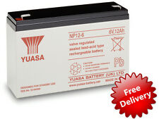 YUASA PUISSANCE 6V 12Ah RECHARGEABLE Batterie ALARME JOUET ÉLECTRIQUE VOITURES