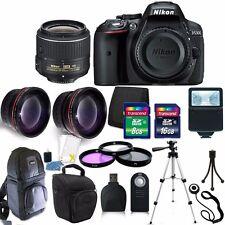 Nikon D5300 24.2 MP Digital SLR Camera 3 Lens Kit 18-55VR + 24GB Accessory Kit