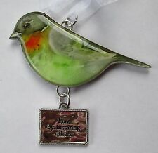 f Live by inspiring others Beautiful Blessings BIRD ORNAMENT be an inspiration