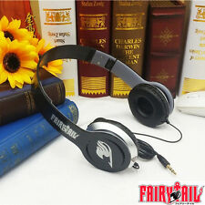Anime Fairy Tail Black Headphone Headset Earphone Association Emblem New in Box