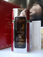 MUST DE CARTIER EDT 50ml REFILLABLE SPRAY VINTAGE 1980s NEW RED FAUX LEATHER BOX