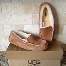 UGG Ansley Chestnut Suede Moccasin Slippers Shoes US 9 Womens 3312