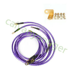 5 PCS UNIVERSAL HIGH PERFORMANCE RACING EARTH GROUND GROUNDING WIRE KIT PURPLE
