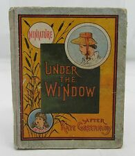 UNDER THE WINDOW ANTIQUE CHILDRENS MINIATURE BOOK KATE GREENAWAY NURSERY RHYMES*