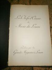 les chefs d'oeuvre du musée du Louvre Mouillot imprimeur publiés grands magasins