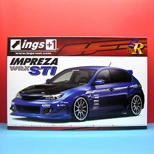 Aoshima 1/24 Subaru Impreza WRX STi ings with 19' Volk Racing CE28N wheels 50545