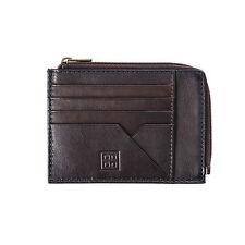 DUDU Bustina portamonete documenti e carte di credito in pelle MARRONE S. zip