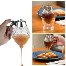 Honey Syrup Jar Dispenser Holds 1 Cup Glass Container Kitchen Storage w/ Stand