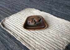 19th cent Chinese antique toggle charm carved wood of cat 狸貓 in a basket