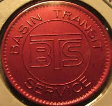 1983 Basin Transit Service Klamath Falls, OR Red Transit Bus Token Oregon Ore.