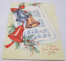 Vintage Christmas Greeting Card 1949 Jingle Bells Make Your Holiday Jolly USA