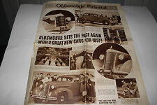 1937 Oldsmobile Pictorial Brochure Original