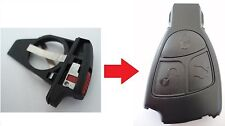 REPLACEMENT BATTERY CASE HOLDER FOR MERCEDES 2 3 BUTTON REMOTE FOB A C E S CLASS