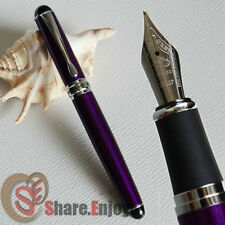 NOBLE JINHAO X750 PURPLE AND SILVER 18KGP BROAD NIB FOUNTAIN PEN